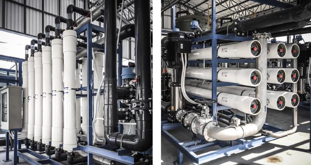 ตัวอย่างระบบ Toray Ultrafiltration ผนวก Reverse Osmosis