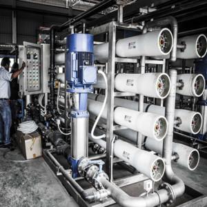 งานติดตั้งระบบผลิตน้ำ RO ให้กับบริษัท APEX
